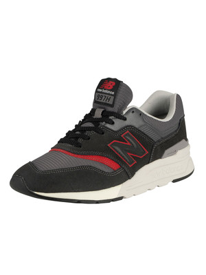 New Balance 997H Suede Trainers - Black/Grey/Red