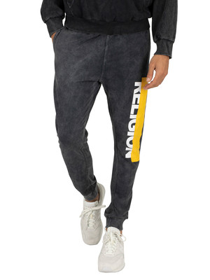 Religion Caution Joggers - Black