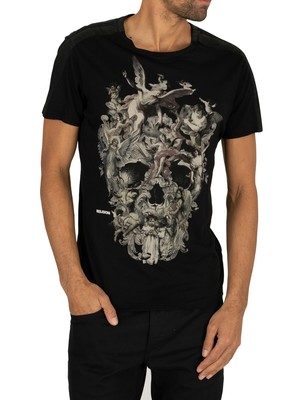 Religion Cherrubs Skull T-Shirt - Black