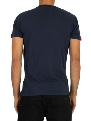 Superdry Chestband Stripe T-Shirt - Rich Navy