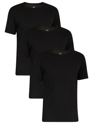 Ted Baker 3 Pack Crew T-Shirts - Black