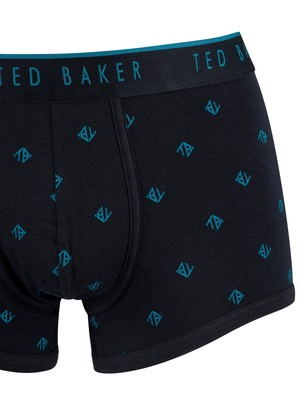 Ted Baker 3 Pack Trunks - Navy/Pattern