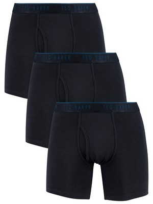 Ted Baker 3 Pack Boxer Briefs - Navy