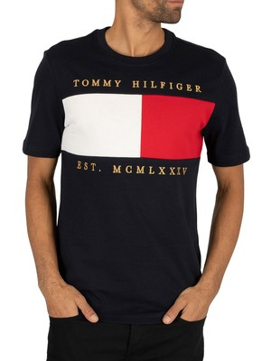 Tommy Hilfiger Flag Chest Embroidery Relax T-Shirt - Desert Sky