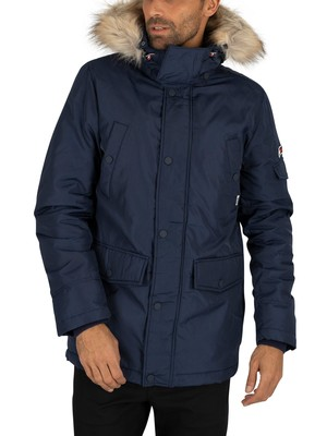 Tommy Jeans Tech Parka Jacket - Black Iris Navy
