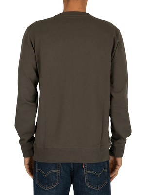 Calvin Klein Jeans Institutional Logo Sweatshirt - Raven/White