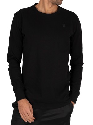 G-Star Swando Loose Longsleeved T-Shirt - Dark Black