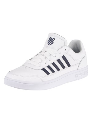 K-Swiss Court Chasseur Leather Trainers - White/Navy/White