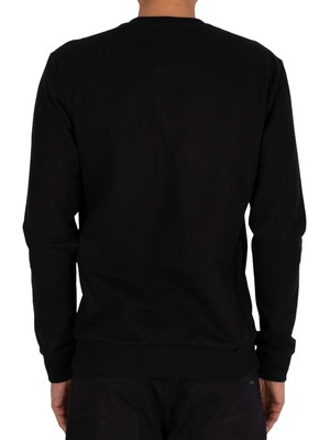 Religion Dark Flower Sweatshirt - Black