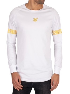 Sik Silk Longsleeved Tech T-Shirt - White/Gold