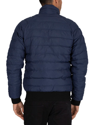 Superdry Commuter Quilted Bomber Jacket - Pilot Mid Blue