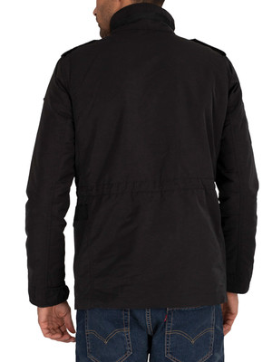 Superdry Edit Collared Utility Four Pocket Jacket - Black