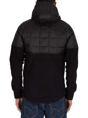 Superdry Polar Fleece Hybrid Jacket - Black