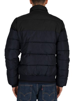 Superdry Track Sports Puffer Jacket - Eclipse Navy