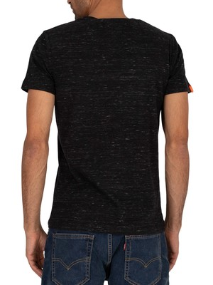 Superdry Vintage Embroidery T-Shirt - Vast Black Space Dye