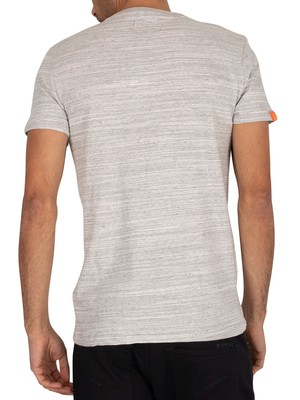 Superdry Vintage Embroidery T-Shirt - Desert Grey Space Dye