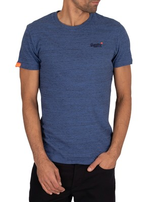 Superdry Vintage Embroidery T-Shirt - Desert Blue Grit
