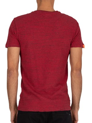 Superdry Vintage Embroidery T-Shirt - Desert Red Grit
