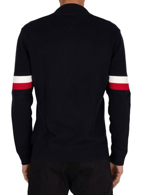 Tommy Hilfiger Branded Baseball Zip Jacket - Desert Sky