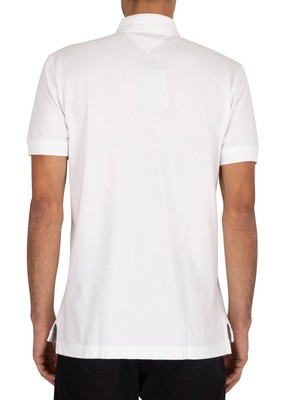 Tommy Hilfiger Logo Embroidery Regular Poloshirt - White