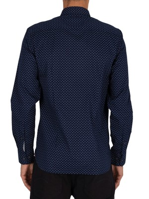 Tommy Hilfiger Slim Print Shirt - Carbon Navy/Snow White