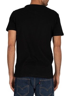 Tommy Jeans Chest Logo T-Shirt - Black
