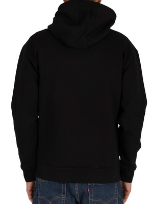 Tommy Jeans Reflective Flag Pullover Hoodie - Black