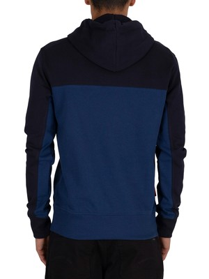 Superdry Collective Colour Block Pullover Hoodie - Darkest Navy