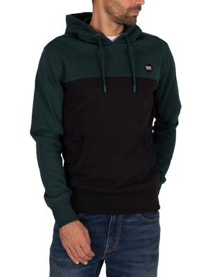 Superdry Collective Colour Block Pullover Hoodie - Pine