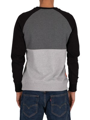 Superdry Collective Colour Block Sweatshirt - Graphite Dark Marl