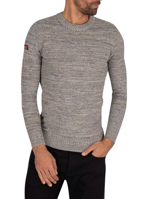 Superdry Keystone Crew Knit - Tuscan Blue Twist
