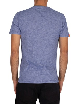 Superdry Vintage Embroidery T-Shirt - Cobalt Space Dye Feeder