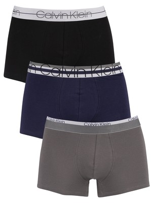 Calvin Klein 3 Pack Limited Edition Trunks - Black/Eclipse/Grey Sky