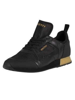 Cruyff Lusso Leather Trainers - Black