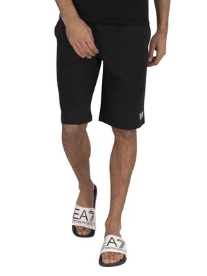 EA7 Bermuda Sweat Sweat Shorts - Black