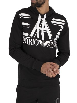 EA7 Graphic Pullover Hoodie - Black