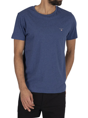 GANT Original T-Shirt - Dark Cobalt Blue Mel