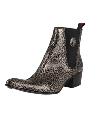Jeffery West Leather Chelsea Boots - Onyx Leopard
