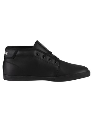 Lacoste Ampthill 120 2 CMA Leather Trainers - Black/Black