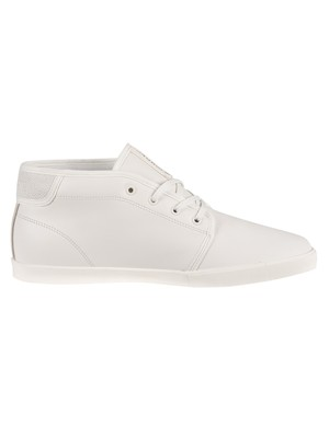 Lacoste Ampthill 120 2 CMA Leather Trainers - Off White/Off White