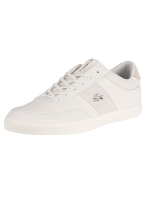 Lacoste Court-Master 120 2 CMA Leather Trainers - Off White/Off White