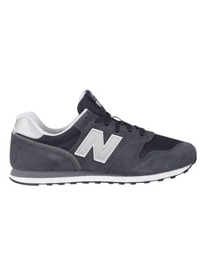 New Balance 373 Suede Trainers - Outerspace/White