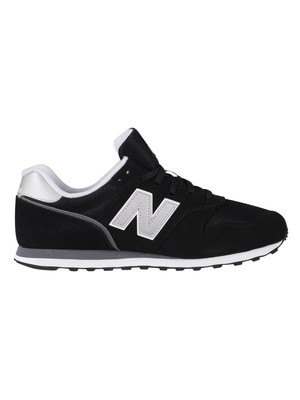 New Balance 373 Suede Trainers - Black/White