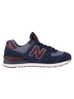 New Balance 574 Suede Trainers - Blue/Navy