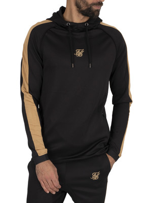 Sik Silk Scope Pullover Panel Hoodie - Black/Gold