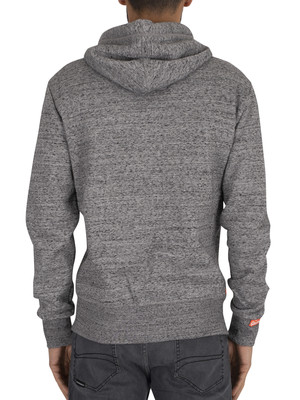 Superdry Orange Label Zip Hoodie - Flint Grey Grit