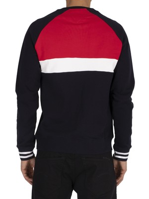 Tommy Hilfiger Colourblock Sweatshirt - Desert Sky/Multi