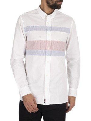 Tommy Hilfiger Slim Flag Shirt - White