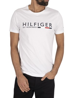 Tommy Hilfiger Stripe T-Shirt - White