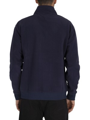 Tommy Jeans Polar Fleece Badge Mock Neck Sweatshirt - Black Iris Navy